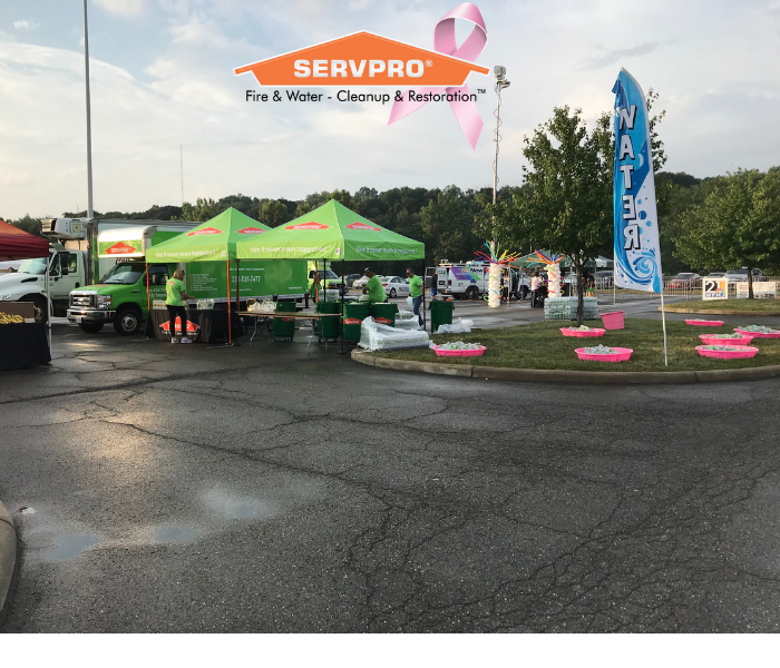 SERVPRO tents ready for the Panerathon
