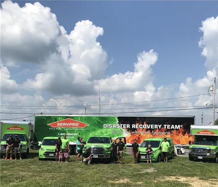 SERVPRO Vehicles ready for the parade