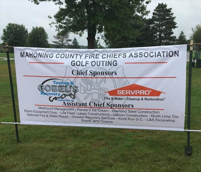 Banner for golf outing