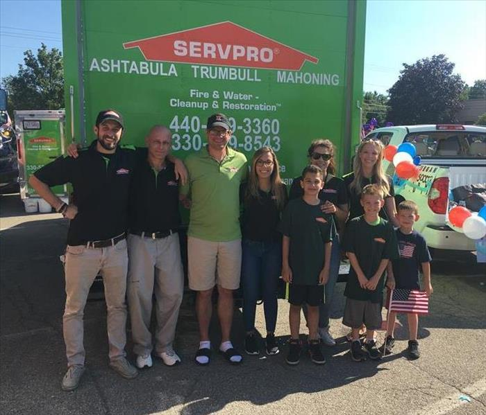 SERVPRO employees pose for a group photo