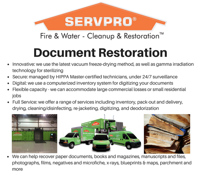 Commercial Document Restoration in Youngstown, Ohio