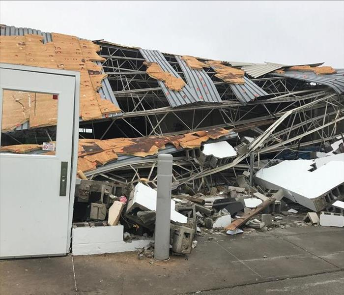 Commercial Sweeney Chevrolet Buick GMC Dealership Storm Damage in Youngstown, Ohio