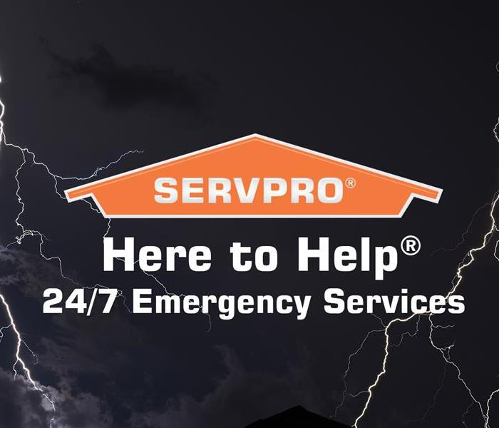 stock image of lightning with SERVPRO logo and slogan